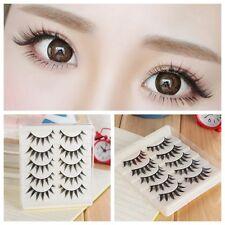5 Pairs New Japanese Makeup Fake Eyelashes Natural Thick Long False Eye Lashes