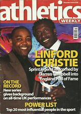 ATHLETICS WEEKLY MAGAZINE 2010 - IAAF – TRACK AND FIELD - LINFORD CHRISTIE