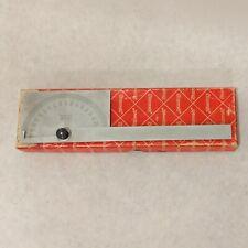 Starrett Chrome Machinist Protractor Noc183 Original Box