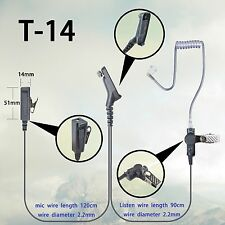 2-wire Surveillance Headset for Motorola XPR7350 XPR7380 XPR7550 Portable Radio
