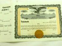Nelu Uranium Company California Colorado Brown Stock Share Certificate Un-Issued