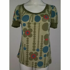 NWT FANG Shirt Tee Top Green Blue Polka Dots Size Small Back Cutout Nordstrom