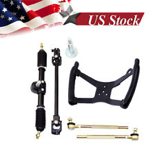 New listing Go Kart Tie Rod Rack Steering Wheel Butterfly Shape Riding Control Racing 110CC