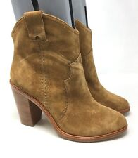 New Joie Cognac Women's Studded Suede Ankle Boots Size:40 (10 US)