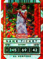 Al Horford 2020-21 Contenders Draft Picks Green Explosion Variation Card #16 SP