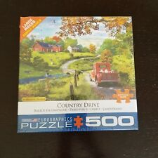 New Eurographics Puzzle Country Drive 500 Piece Large Jigsaw by Dominic Davison