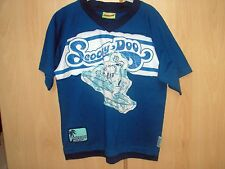 SCOOBY-DOO T-SHIRT ** BLUE/WHITE ** AGE 7-8 ** DESIGN ON BACK & FRONT