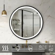 "23.6"" Bathroom Mirror with Weather Forecast LED Light Antifog Makeup Mirror"