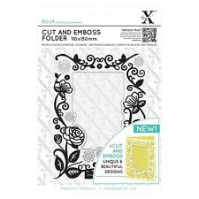 Xcut (Docrafts) floral frame 110 x150mm Coupé & gaufrer Dossier Papier Carte Craft