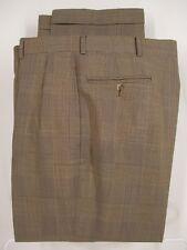 Polo Ralph Lauren Mens Beige Check Forward Wool Mohair Pants 36x29