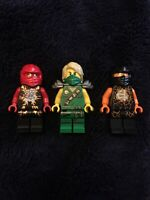 Lego Ninjago Minifigure lot Kai Cole Lloyd Green Ninja