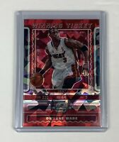 Dwayne Wade 2019-20 Panini Contenders Optic Red Cracked Ice Prizm WINNING TICKET