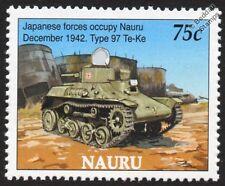 WWII Type 97 TE-KE TANK (Japanese Occupy Nauru 1942) Stamp