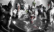 Batman The Joker Arkham Gotham City POSTER FRAMED ON CANVAS & MOUNTED