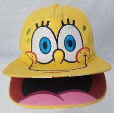 SpongeBob Squarepants Adjustable Snapback Cap Yellow Nickelodeon Hat