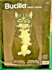 Needlepoint plastic Canvas Kit Bucilla Cat & mouse #5942 NIP