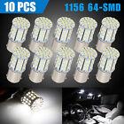 10x Super White 1156 1141 64-SMD LED Interior RV Camper Trailer Light Bulb 6000K