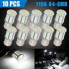 10x Super White 1156 1141 64 Smd Led Interior Rv Camper Trailer Light Bulb 6000k