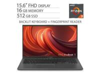 "ASUS VivoBook 15.6"" FHD NanoEdge Laptop, 16GB DDR4 RAM, 512GB M.2 SSD"
