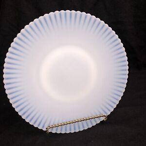 "MacBeth-Evans Petalware Monax White 10 3/4"" Salver Plate Platter Plain Base USA"