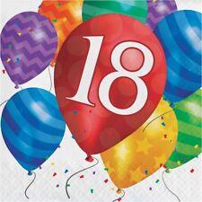Balloon Blast 16 Ct 18 Luncheon Napkins 18th Birthday Party