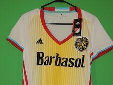 Adidas Barbasol Columbus Crew SC MLS Womens Size L Large Soccer Jersey / Top NEW