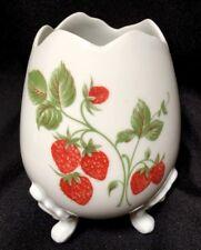 Limoges 3 Footed Egg Vase Strawberries strawberry