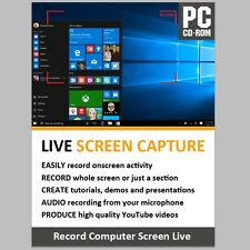 Live Screen Capture Studio Software Record Live PC Screen Video Mic Audio