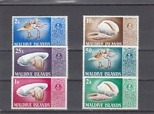 a127 - MALDIVE ISL - SG288-293 MNH 1968 BIRDS & SEA SHELLS