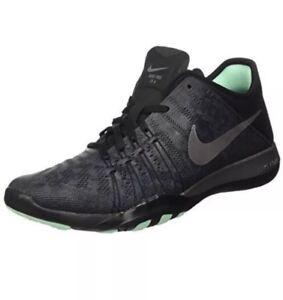 Nike Free TR 6 MTLC Women's Training Shoes 849805-001 Dark Grey/Silver US 9.5