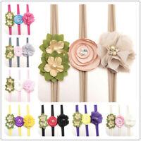 Newborn Girl Headband Baby Elastic Headpiece Kids Hair Band Flower Scrunchie Kit