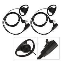 2pcs 2 pin D Shape Earpiece Headset Microphone For Motorola CP040 CP100 Radio