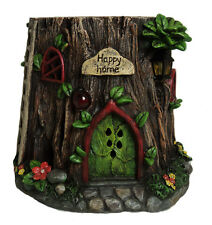 Solar Garden Fairy Tree Stump House Outdoor Light Up Fairies Elves Home Kids Fun