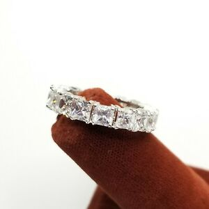 Eternity CZ Stackable Ring Band Sz 7.75 - 8 Cubic Zirconia Estate Jewelry