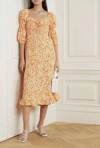 Faithfull The Brand Nora Dress Orange Floral S