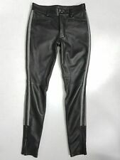 Men's Real Leather Pants Police Jeans Trousers BLUF Pants Bikers Breeches