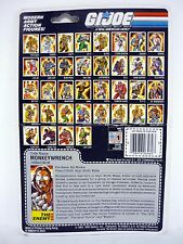 GI JOE MONKEYWRENCH FILE CARD Vintage Figure FULL / UNCUT / GOOD SHAPE 1986