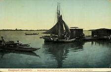 ecuador, GUAYAQUIL, Sloops and Canoes at the Guayas Riverside (1910s)