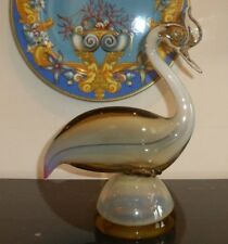 VINTAGE MURANO GLASS ITALY CREAM BUTTERSCOTCH CRAME FIGURINE