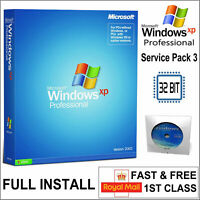 Windows XP Professional 32 bit SP3 License Product Key PRO + Repair DVD Disc COA