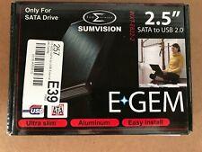 "SUMVISION EGEM 2.5"" SATA TO USB 2.0 PORTABLE HARD DRIVE ENCLOSURE/HDD CADDY"