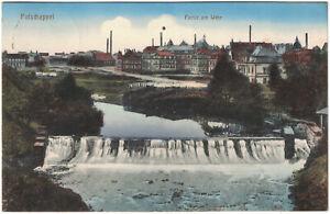 Alte AK Potschappel, Partie am Wehr, Freital, gelaufen 1913