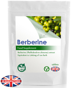 Berberine 1000mg Extract - 30/60/90/120/180 Tablets - FREE UK DELIVERY (V)