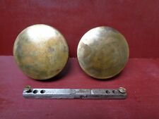 2 (MORE AVAIL) ANTIQUE HEAVY BRONZE DRUM DOOR KNOBS #26