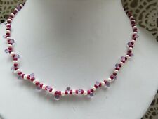 """Natural Briolette Amethyst Ruby Pearl Solid 14K Yellow Gold Beaded Necklace 17"""""""