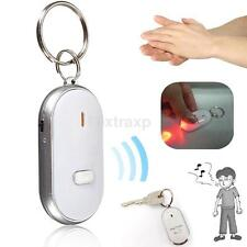 White LED Whistle Lost Key Finder Locator Voice Control Electronic Key Chain