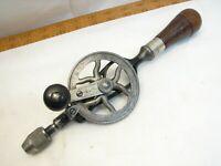 Antique Goodell Brothers Hand Crank Drill 1895 Patent Chuck Pratt Tool
