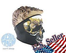 New Full Face Mask Skull Black Reversible Neoprene Halloween Snow Ski Motorcycle