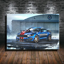 Collect Art Print Oil Painting on Canvas Wall ,Mustang-Captain-America