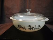 Vintage Pyrex 024 Casserole 1950's Golden Branch Hospitality With Lid